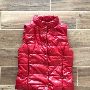 Vintage Converse One Star Red Puffer Vest Jacket